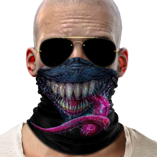 bandana balaclava dentes lingua ciclismo metal 01