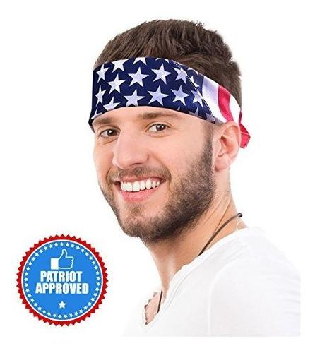 bandana de bandera estadounidense vincha de bandera de ee uu