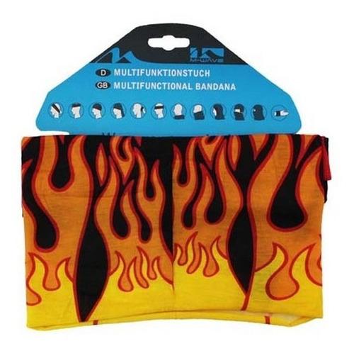 bandana de ciclismo caminhada  m-wave caveira fogo ciclismo