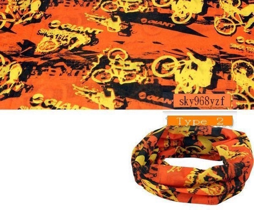 bandana diseño # 12 - color naranja