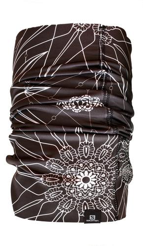 bandana femenina salomon-necktube snow negro/blanco-running