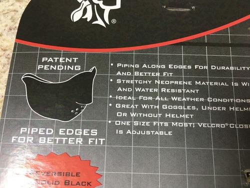 bandana flame em neoprene made in usa 100% de proteção