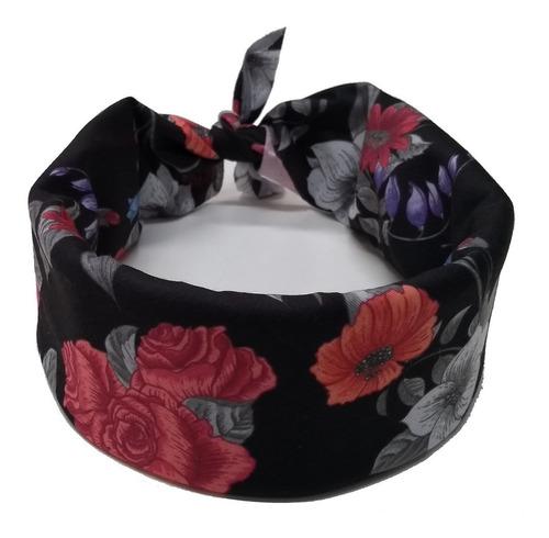 bandana floral masculina vcstilo