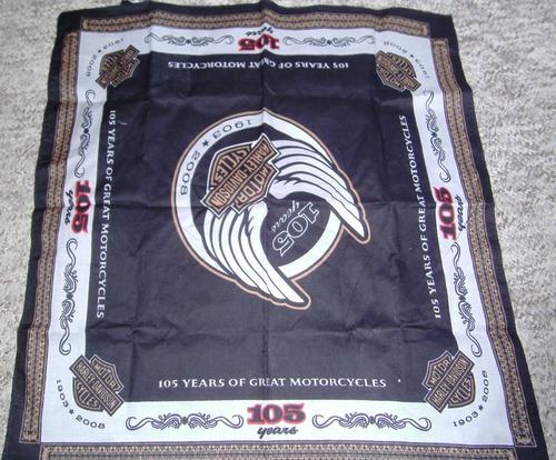 bandana harley davidson comemorativa 105 anos de aniversário
