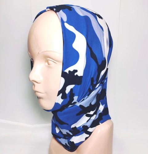 bandana mascara bufanda motociclista tactico blue wood envío