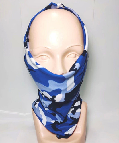 bandana mascara bufanda motociclista tactico blue woodland