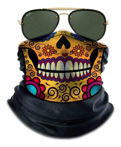 bandana mascara caveira mexicana moto ciclismo proteção 05