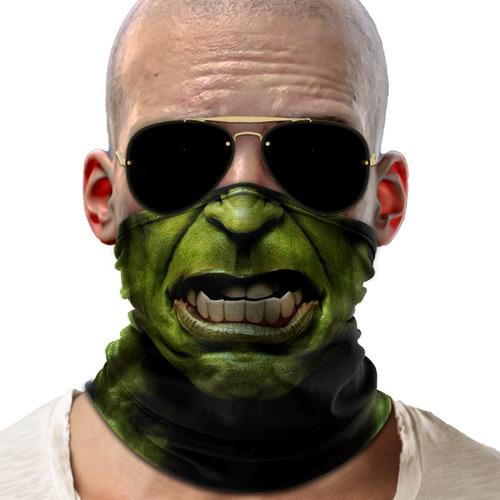 bandana mascara incrivel hulk lenço moto ciclismo proteção 2