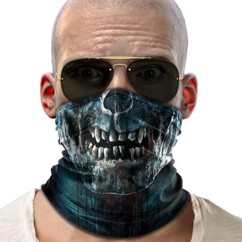 bandana mascara zumbi lenço moto ciclismo proteção 01