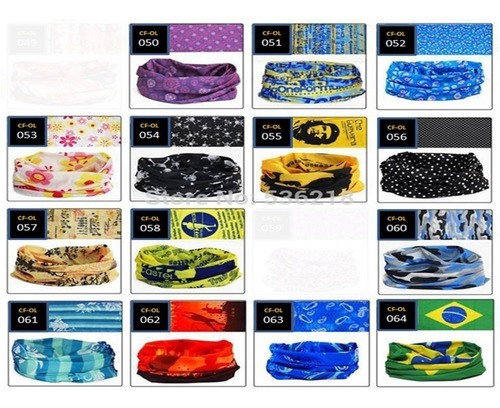 bandana multifuncional pañoleta balaclava tubular sin costur