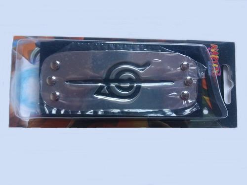 bandana naruto metal 14cm x 5cm faixa 90cm original
