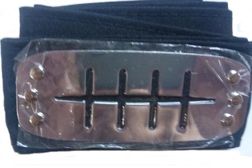 bandana naruto shippuden placa metal 10cm x 4cm faixa 90cm