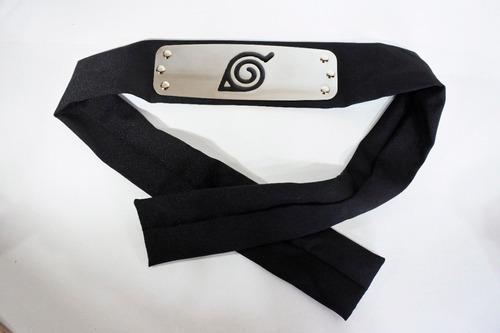 bandana preta do anime naruto - faixa vila de konoha