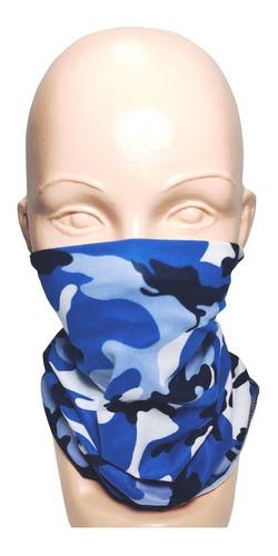bandana tipo buff mascara moto ciclismo pesca woodland azul