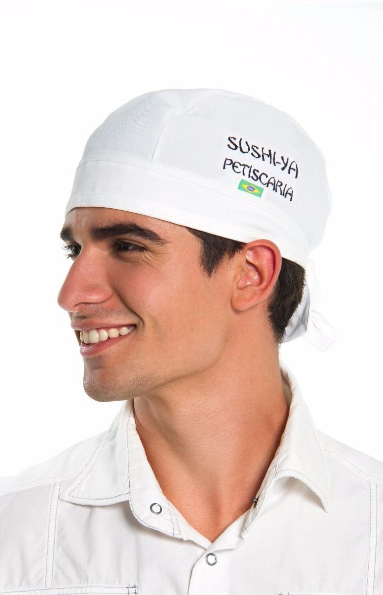 Bandana Touca Para Cozinha Cozinheiro Gastronomia Kit 3 - R  32 87b49dd4b0d