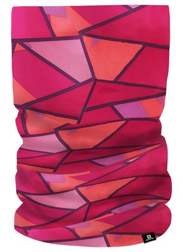 bandana unisex salomon - fleece necktube rojo/rosado - runni
