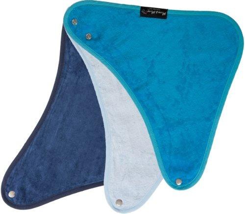 bandana wonder bib paquete, 3 - navy, baby blue, teal