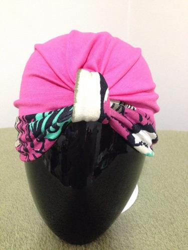 bandanas rosa com faixa embutida florida