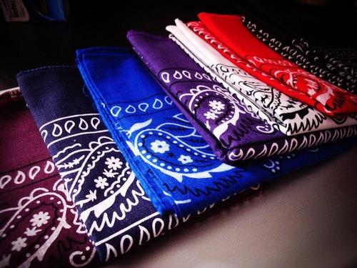bandanas:verde,amarillo,fucsia,rojo,azul,gris,lila,rosa...