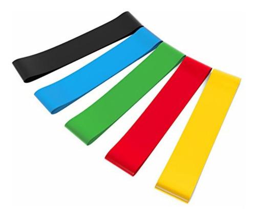 bandas cerradas de resistencias ejercicios pilates 5 bandas