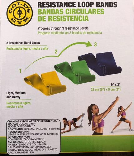 bandas circulares de resistencia golds gym