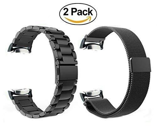 e43dba445 Bandas De Reloj Gear S2, Vicrior 2pack Correa Metálica De ...