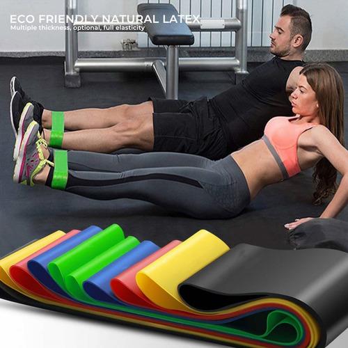 bandas de resistencia ejercicio kit gimnasio 5 pcs