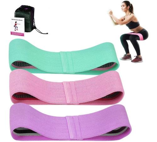 bandas de resistencia elasticas fitness set de 3 colores