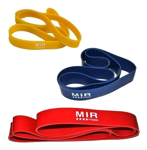 bandas dominadas pack 3 varias tensiones fitness gym colores
