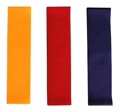bandas elasticas circulares x 3 unidades tela fitness