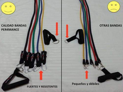bandas elásticas de resistencia para hacer ejercicio