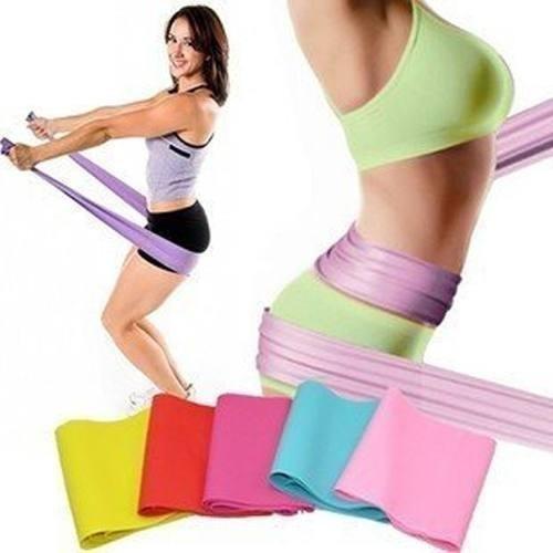 bandas elasticas de resistencia pilates yoga ultraresistente