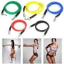 bandas elasticas ejercicicio gym crossfit pilates + dvd ejer