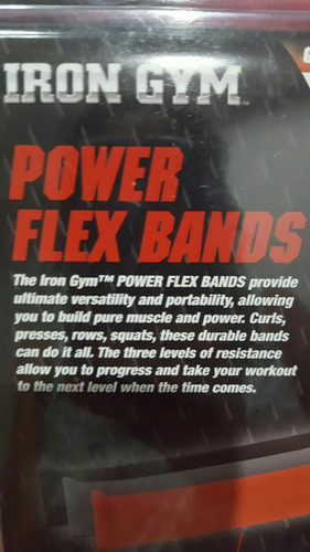 bandas elasticas ejercicios gimnasio 10 cms x 1.22 mts