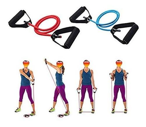 bandas elásticas  kit teratubos x 4 unidades sport-ejercicio