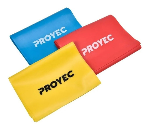 bandas elasticas pack x3 gym yoga theraband tiraband proyec