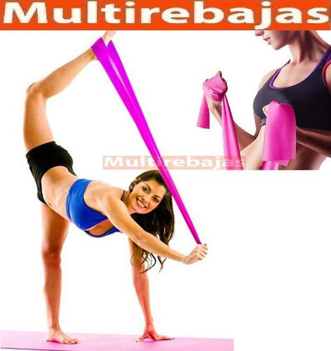 bandas elasticas para abdominales, brazos, piernas yoga