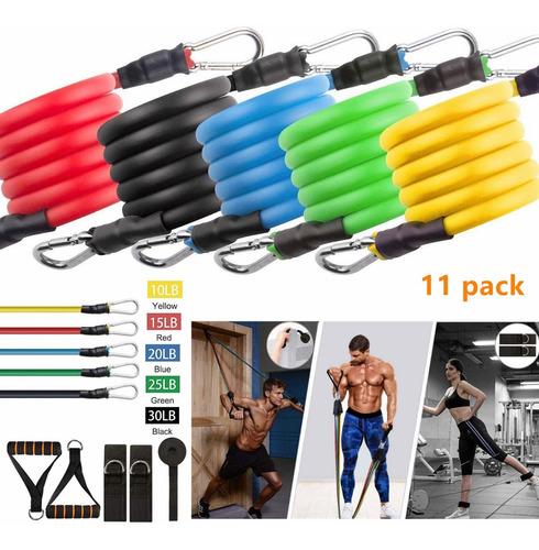 bandas elásticas para ejercicio, pack de 11 piezas