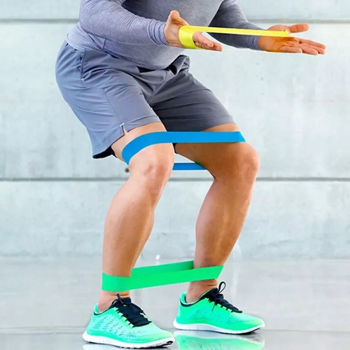 bandas ligas elásticas circulares 3 resistencias golds gym