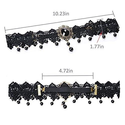 bandas para el cabello, aniwon black lace pearl hair bands