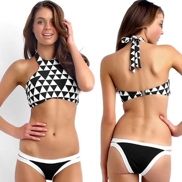 Bandeaukini bikini traje de ba o cuadros moda japonesa - Banos de moda ...