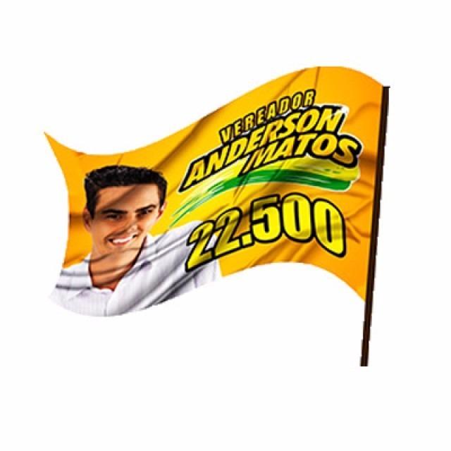 Bandeira 1,00x0,70 Para Campanha Politica Adequado Nova Lei - R ...
