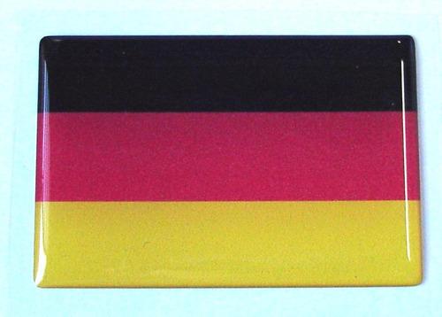 bandeira adesiva resinada da alemanha 6x4cm - bre