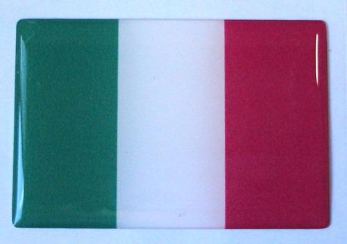 bandeira adesiva resinada da itália 6x4cm - bre