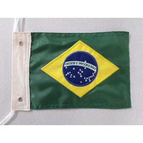 Bandeira Bordada Dupla Face Para Moto Chopper Do Brasil.
