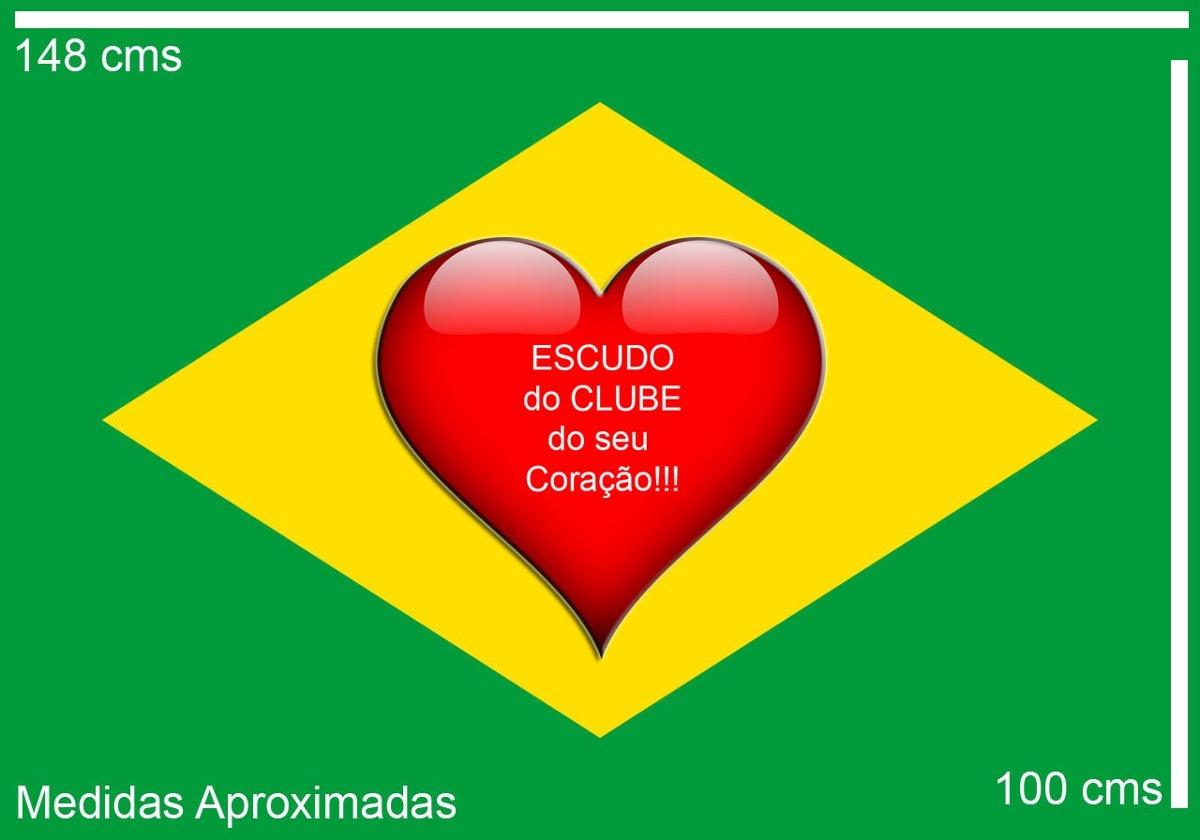 8dcf226e9fe36 Bandeira Do Botafogo - São Paulo + Bandeira Do Brasil - R  120