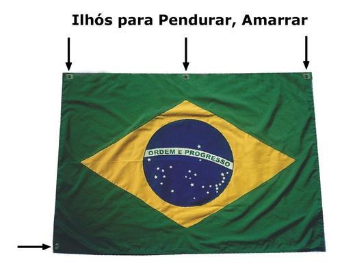 bandeira brasil oficial para sacada predio varanda 90 x 128