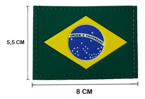 bandeira brasil patch emborrachado colorido com fixação