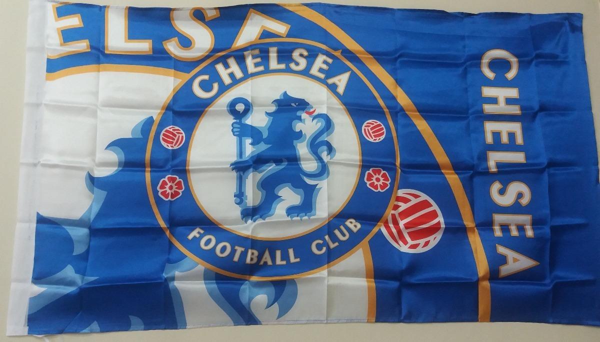 fa266cc4bcb4d Bandeira Chelsea Clube Flag Time Futebol Poliéster 90x150cm. - R  49 ...