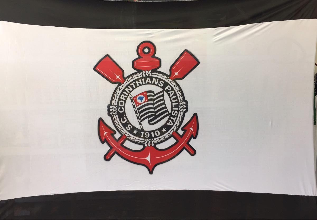 97bc35f556662 Bandeira Corinthians Tecido 1